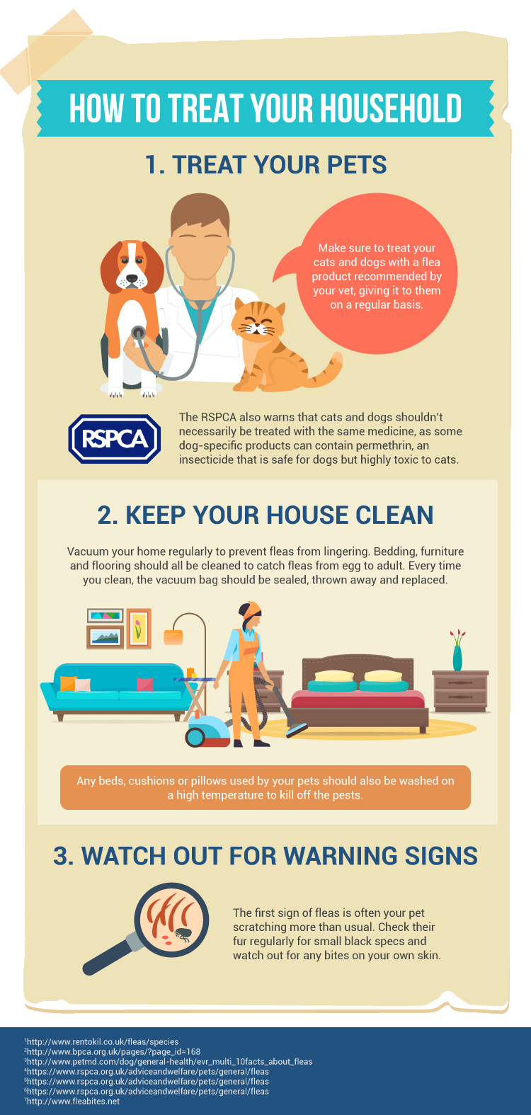 How to treat a flea infestation