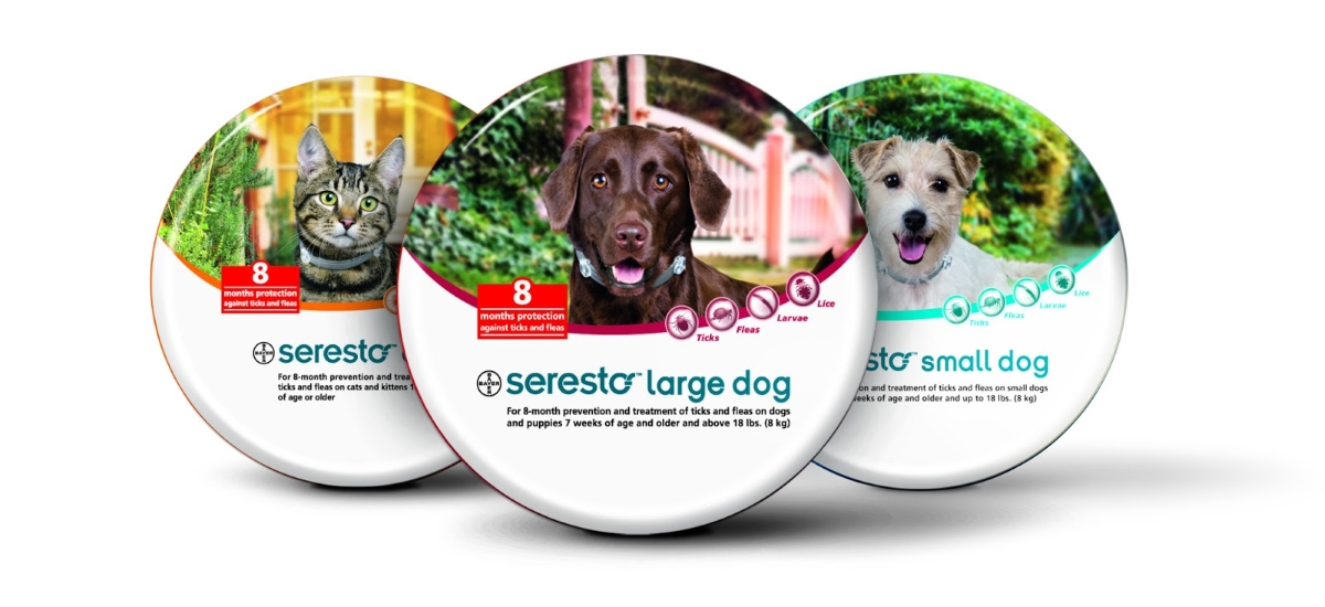 Bayer Seresto flea collar range